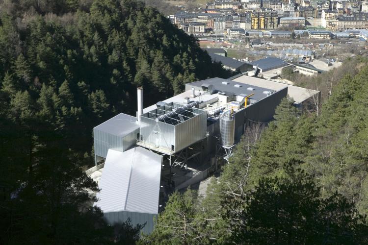 Vista aèria del Centre de Tractament de Residus